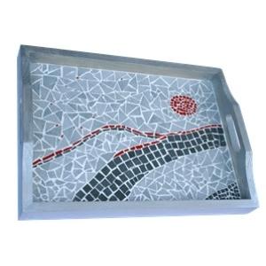 Kit mosaico artistico vassoio fai da te maison pratic for Mosaico fai da te