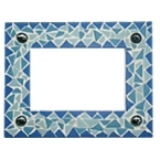 Kit mosaïque cadre bleu