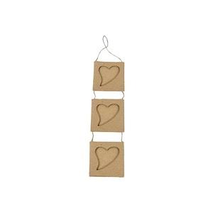 Mini cadre photo 3 coeurs Carton decopatch