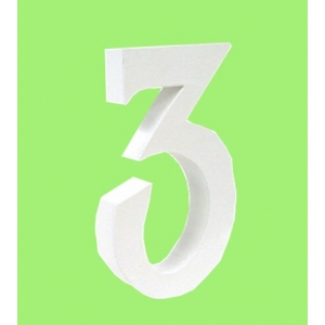 lettre 3d en carton 3 maison pratic boutique pour vos loisirs creatifs et votre deco. Black Bedroom Furniture Sets. Home Design Ideas