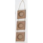 3 minis cadres Soleil carton Decopatch