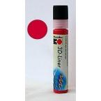 Liner 3D Rouge rubis Marabu