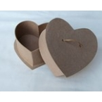 craft heart box with small rope 12cm