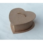 craft heart box with small rope 8cm