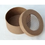 craft rounded box with wire netting