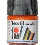 Peinture textile MARABU Métallic Orange 50 ml