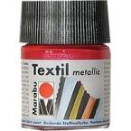 Peinture textile Marabu Métallic Rouge 50 ml