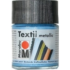 Peinture textile Marabu Métallic Bleu Clair 50 ml