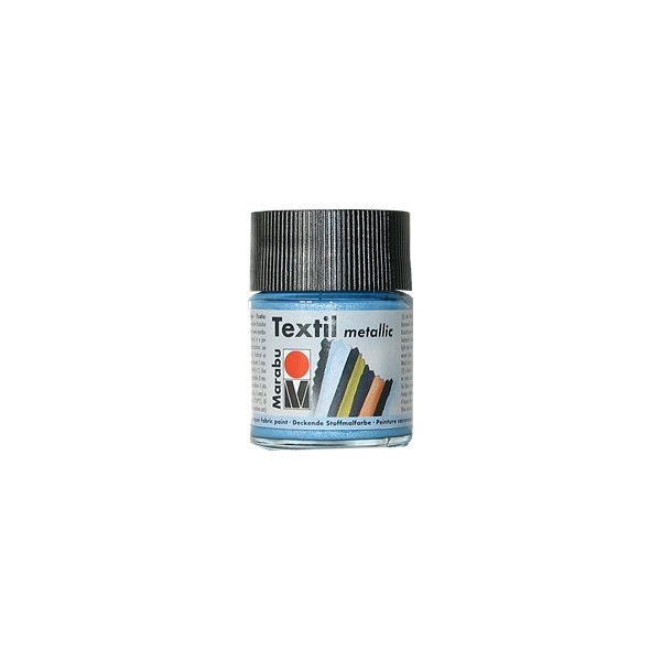Peinture textile marabu m tallic bleu clair 50 ml maison pratic boutique pour vos loisirs - Peinture bleu clair ...