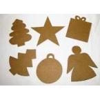 10 Formes de Noël à décorer Decopatch