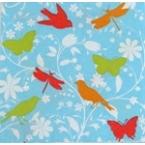 serviettage Serviette oiseaux, papillons,