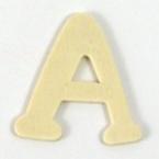 Lettre en bois - A - 4 cm