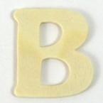 Lettre en bois B - 4 cm