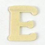 Lettre en bois  E. 4cm