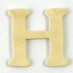 Lettre en Bois  H