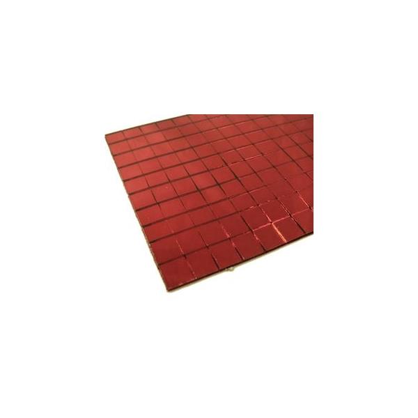 Plaque miroir mosa que autocollante rouge maison pratic for Plaque autocollante