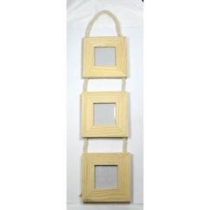 3 cadres photo suspendre bois maison pratic boutique pour vos loisirs creatifs et votre deco. Black Bedroom Furniture Sets. Home Design Ideas