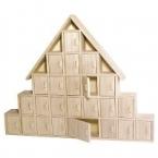 calendrier de l'avent en bois chalet