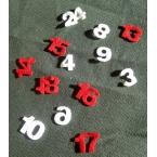 24 chiffres calendrier avent en feutrine