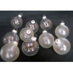 10 boules en verres à décorer
