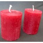 2 bougies rouge deco