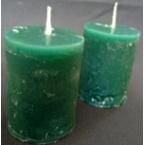 2 bougies vertes