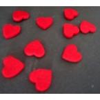 20 coeurs en feutrine rouge bordeaux