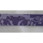Ruban motif violet 10mm