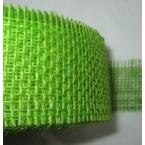 Ruban toile de jute amidonné Vert 55mm