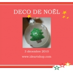Kit 3 Boules de Noel en verre à décorer
