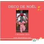 Kit couronne de Noel deco rouge et blanc