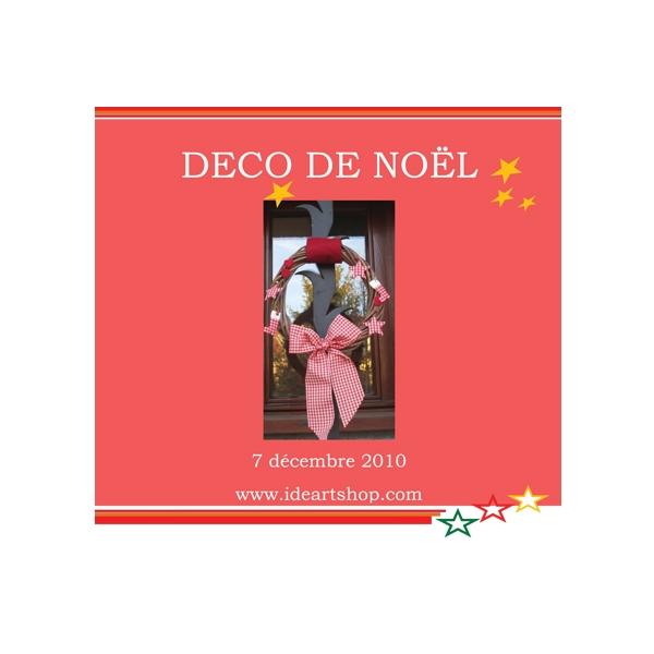 Kit couronne de noel deco rouge et blanc maison pratic - Deco noel rouge et blanc ...