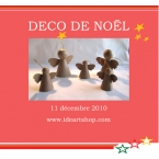 Anges de Noel à accrocher