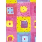 Décopatch Papier 372 rose gelb blau