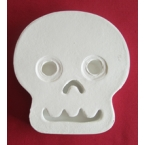 white craft skull Decopatch