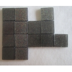Mosaique Acryl gris foncé pailletée