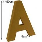 Lettre 3D geante A 50cm