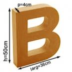 Lettera in cartone gigante B