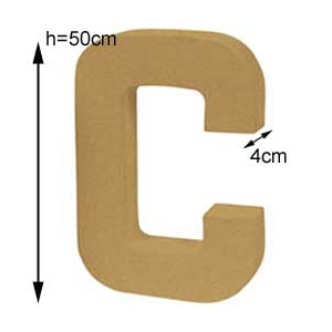 Letter C Craft Giant Size Maison Pratic Boutique Pour