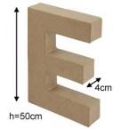 Lettre 3D geante E