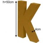 Lettre 3D géante K
