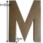 Lettre 3D geante M