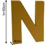 Lettre 3D geante N