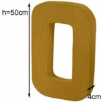 Lettre 3D geante O