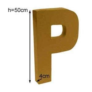 Lettre 3D geante P