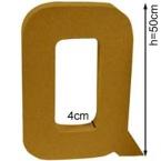 Lettre 3D géante Q