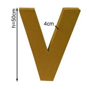 Lettre 3D géante V