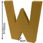 Lettre 3D géante W