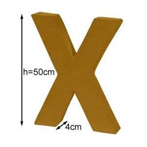 Lettre 3D géante X