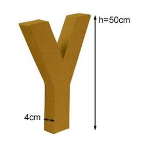 Lettre 3D géante Y